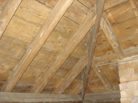 Roof timbers after mould removal