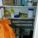 mould in cupboard