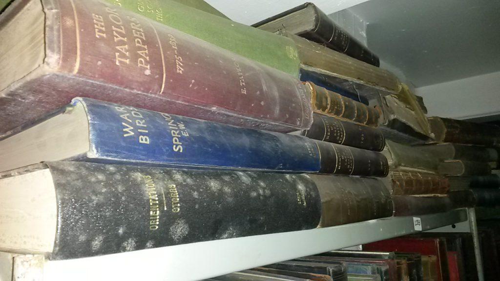 moulds on books, mould spores, mould damage